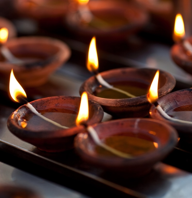 Candles in Nepal