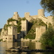 Ruine an der Donau in Serbien