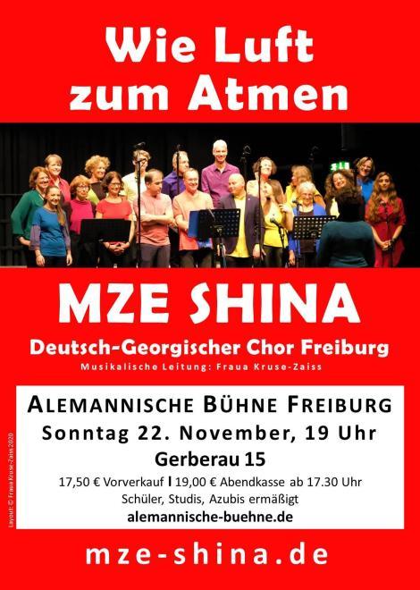 Auftritt MZE SHINA 22.11.2020 Alemannische Bühne Freiburg