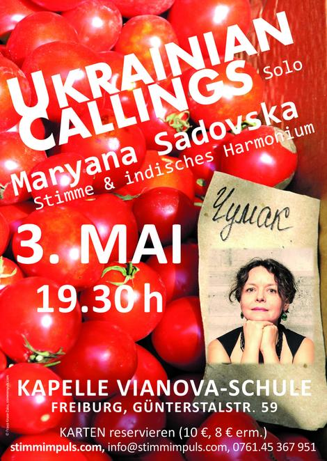 Ukrainian Callings, Konzert Maryana Sadovska, 3.5.2018