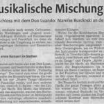 Konzertkritik zum Kammermusikkonzert in der Waiblingen Kreiszeitung (28.10.2013)