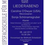 Liederabend in Dinkelsbühl 2013