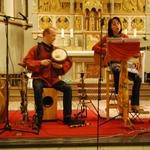 Neunkirchen Seelscheider Gospelnacht 2013 Kwa moyo, mit Jan-Philipp Tödte (Talking drum) und Ate Damm (Gitarre und Gesang)