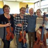 von links: Anja Hepp-Dierig, Bruder Gerhard Dierig, Géza Szilvay und Nichte Rahel Klein