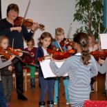 AG Geige im Schülerkonzert