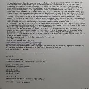 Pressekritik von Frank Zocher von Efmusik