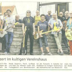 Fluthilfe Benefiz in Niederzimmern 2013 - mit Kani, Lodix, Siggi Heilek, Willi Woigk, Lin Dittmann u.a.
