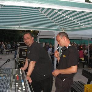 Robert beim Bluesfestival Bad Berka an der Technik