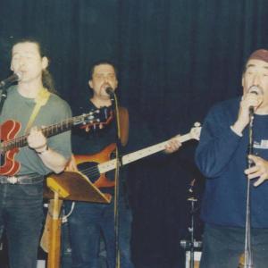 zur Erinnerung...Jimmy Carl Black, Robert & Micha bei einem Konzert im Jahre 2000