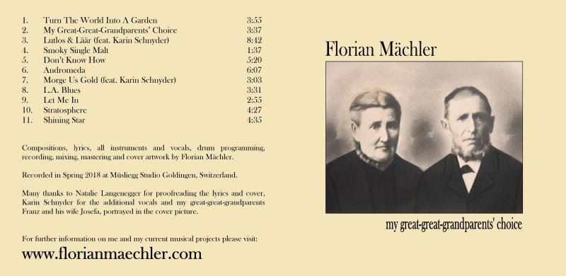 "Florian Mächler ""my great-great-grandparents' choice"