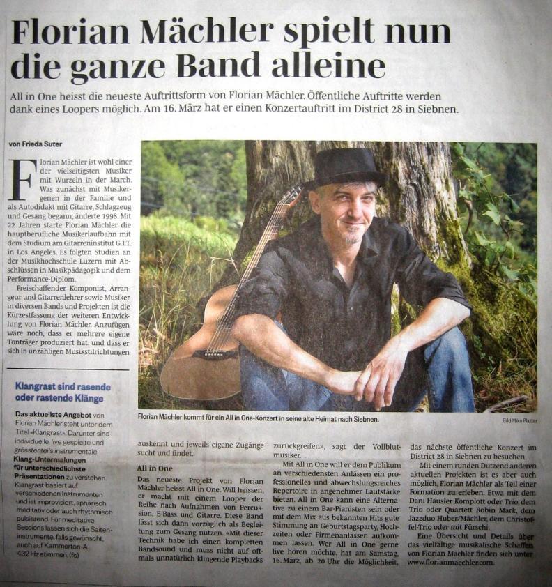 Zeitungsbericht March Anzeiger