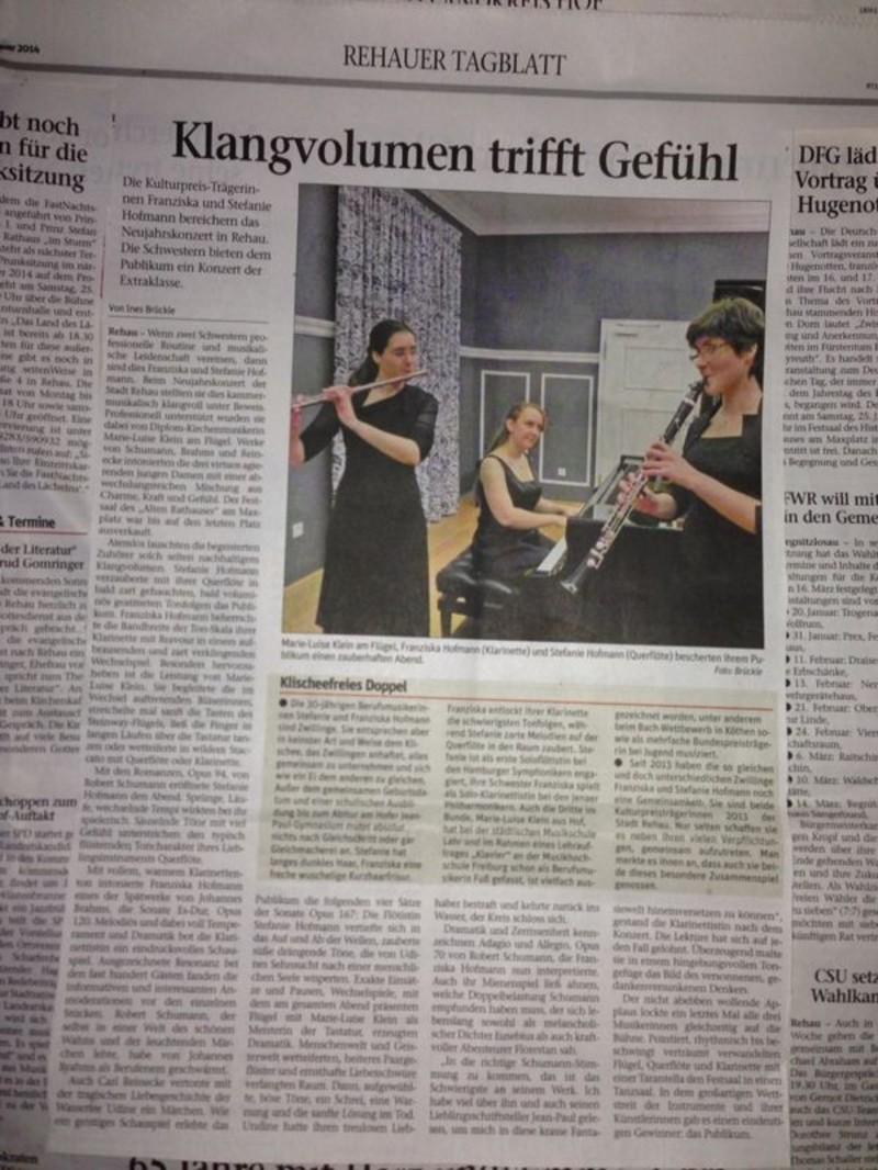 TwinTrio, Stefanie, Franziska, Marie-Luise, Stadt Rehau