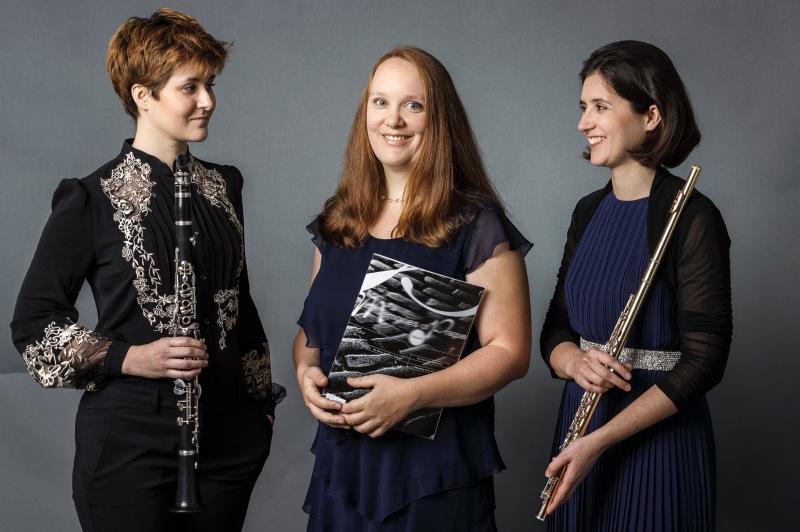 TwinTRIO, Franziska Hofmann (Klarinette), Marie-Luise Klein (Klavier), Stefanie Hofmann (Flöte)