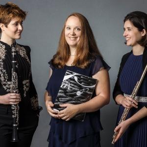 TwinTRIO (2), Stefanie Hofmann (Flöte), Franziska Hofmann (Klarinette), Marie-Luise Klewer (Klavier)