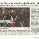 """Rezension Badisches Tagblatt: """"... Mit ihrem hellen, reinen Klang begeisterte sie das Publikum zu """"Bravo""""-Rufen."""