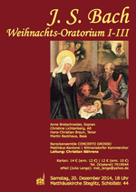 Konzertplakat Weihnahctsoratorium