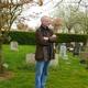 An den Gräbern von Benjamin Britten und Peter Pears in Aldeburgh