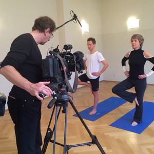 ORF Dreh mit Barbara Rett