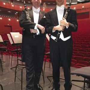zusammen mit Gaspare Buonomano, 1. Soloklarinettist NDR Symphonieorchester Hamburg