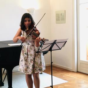 Franciska Hajdu beim 1:1 Konzert im Sophie Drinker Institut Bremen