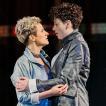 "Sophia Körber (Servilia) und Sarah Romberger (Annio) in""La clemenza di Tito"" Landestheater Bregenz 2020, Foto: Anja Köhler"