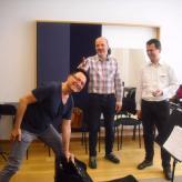 Proben mit Johannes Marian und Stefan Neubauer