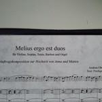 Melius ergo est duo - Graduale für STB, Violine und Orgel
