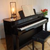 Schwarz-poliertes mobiles Piano