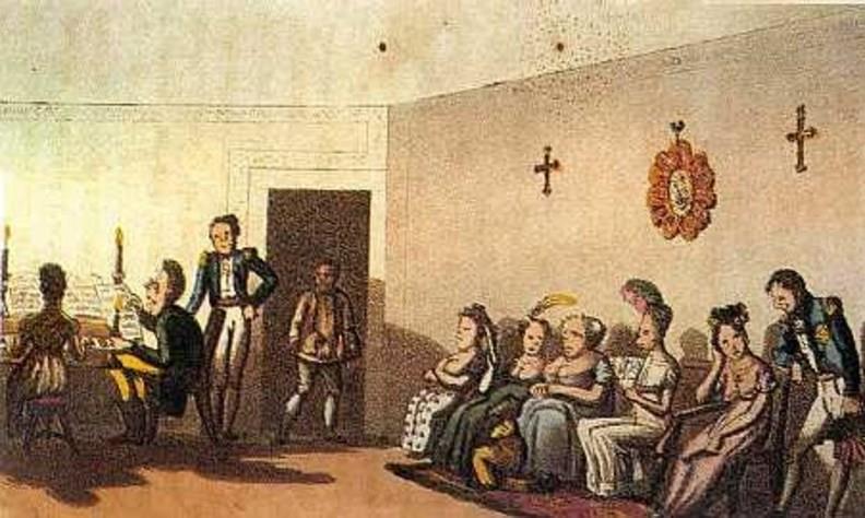 Neukomm jouant du piano, 1826