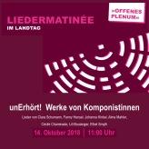 Plakat unErhört! Niedersächsischer Landtag