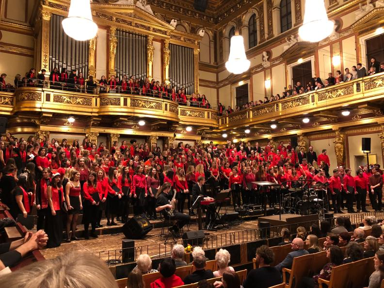 Concert in the Musikverein Vienna on 17th december 2018