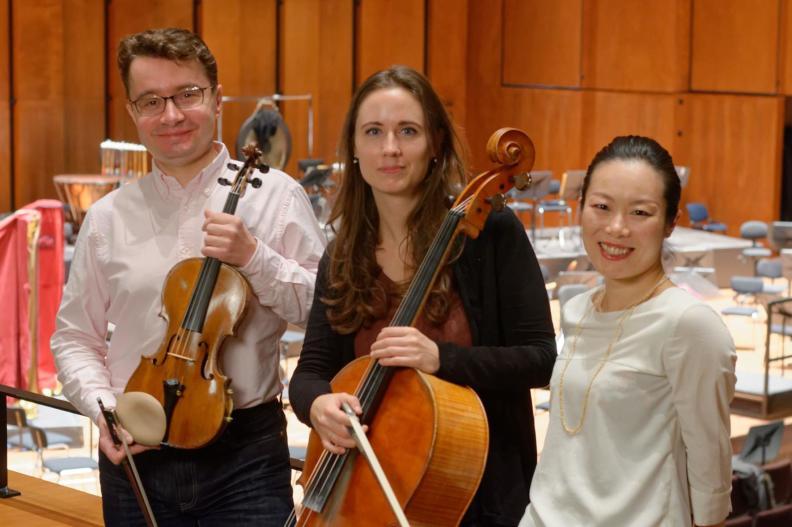 Piano Trio Classique Sergei Bolotny violin Keiko Sakuma piano Noelle Weidmann cello photo Michiel Klep 2017