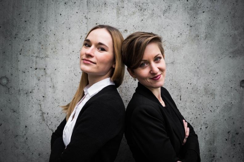 Anna Anstett and Alina Wunderlin