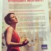 Jetzt auch als Model - auf einem Plakat für das Liedfestival in Zeist, Niederlande