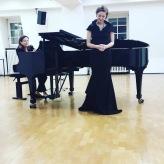 Beim Master-Rezital mit Mihaela Tomi, Musikhochschule Mannheim, November 2018