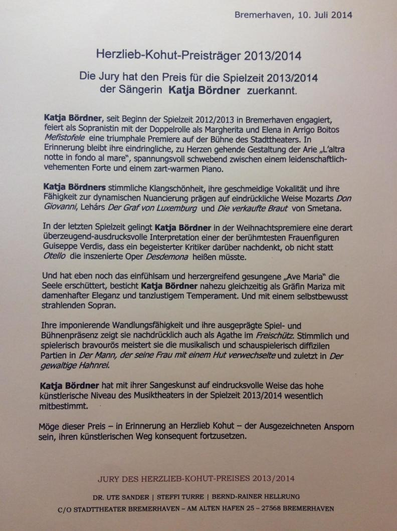 Katja Bördner   Preisträgerin des Herzlieb-Kohut-Preises