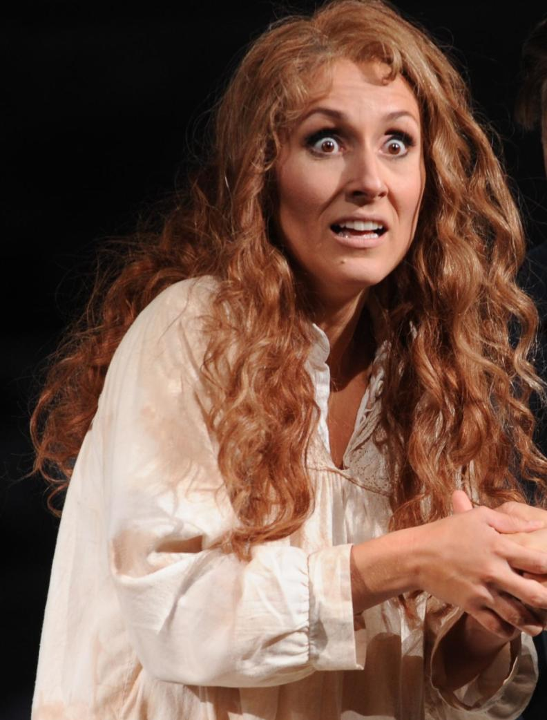 "Katja Bördner comme ""Margherita"" in ""Mefistofele"" du Arrigo Boito, Régie: Philipp Kochheim, Mise en scène: Barbara Bloch"