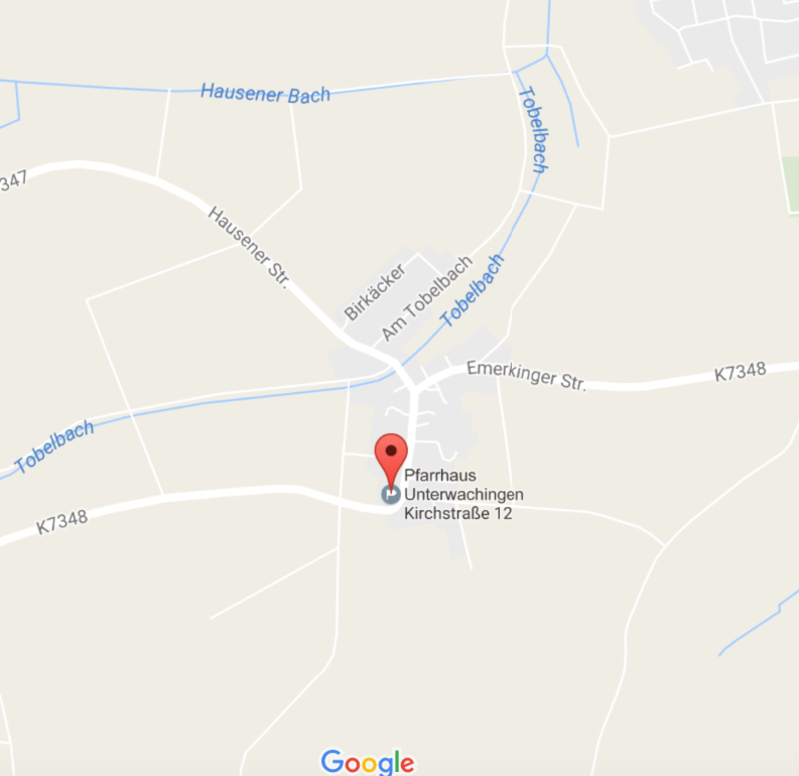 Unterwachingen_Googlemaps
