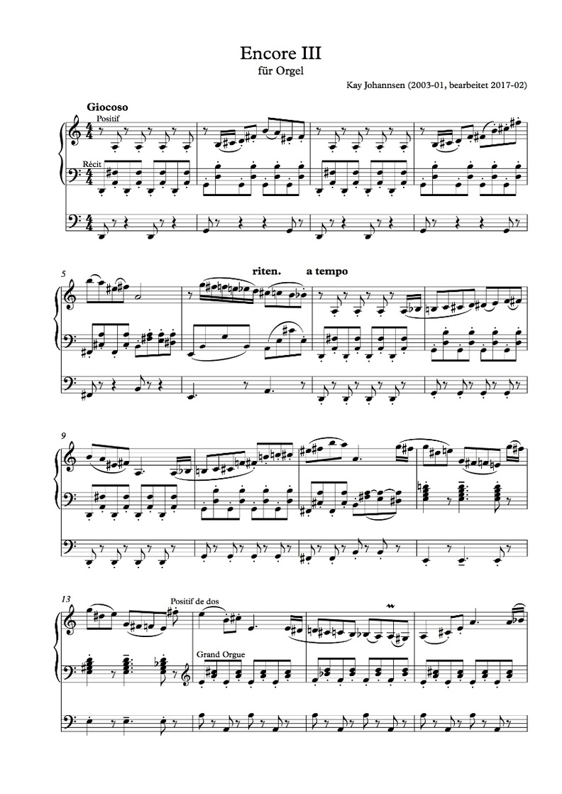 Encore III, Seite 1
