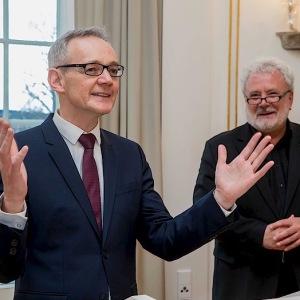 Verleihung der Staufermedaille in der Villa Reitzenstein (Januar 2018)