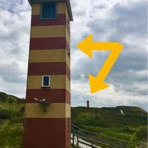 Zwischen Zoutelande und Vlissingen haben die Holländer zweimal versucht den berühmten Pilsener Leuchtturm in Ostfrieland zu kopieren .... hat aber nicht geklappt, findet Ihr die Fehler?  ;O)