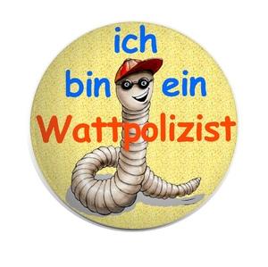"""der neue Button, sozusagen die Wattpolizei - """"Dienstmarke"""""""