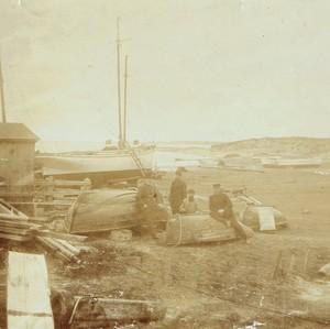 Seit 1878 führte mein Urgroßvater Hans Christian Thomsen die kleine Werft am Hafen Munkmarsch/Sylt (Foto: Sammlung Wilhelm Borstelmann)