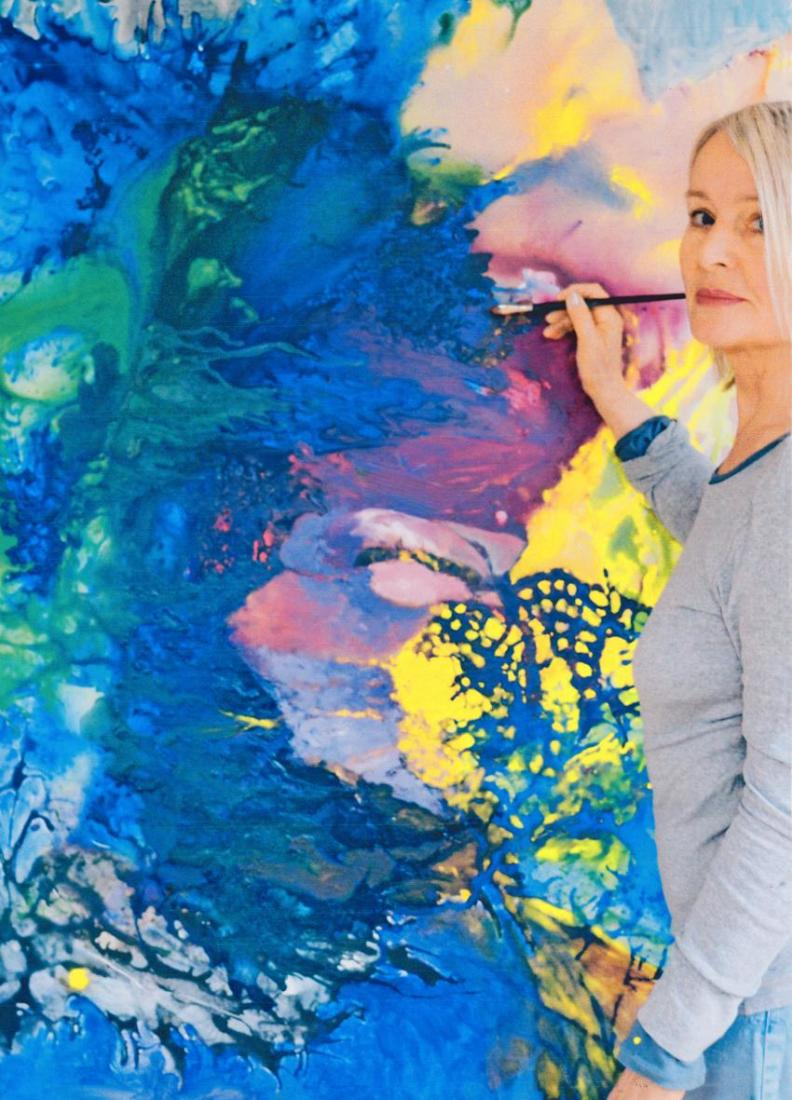 Portrait der Malerin Christine Vogdt