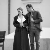 """Proben """"Fidelio""""  - Larissa Angelini (Leonore), Bartosz Szulc (Rocco) © Uwe Hauth"""
