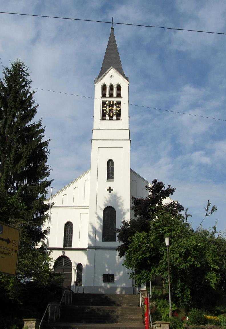 Die Martin-Luther-Kirche in St. Ingbert