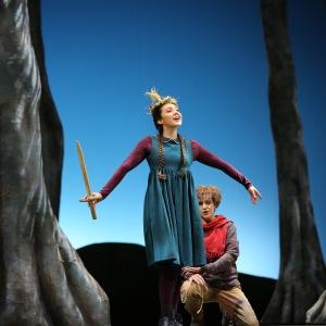 """Als Gretel in E. Humperdincks """"Hänsel und Gretel"""" (Hessisches Staatstheater Wiesbaden). Foto von De-Da Productions."""