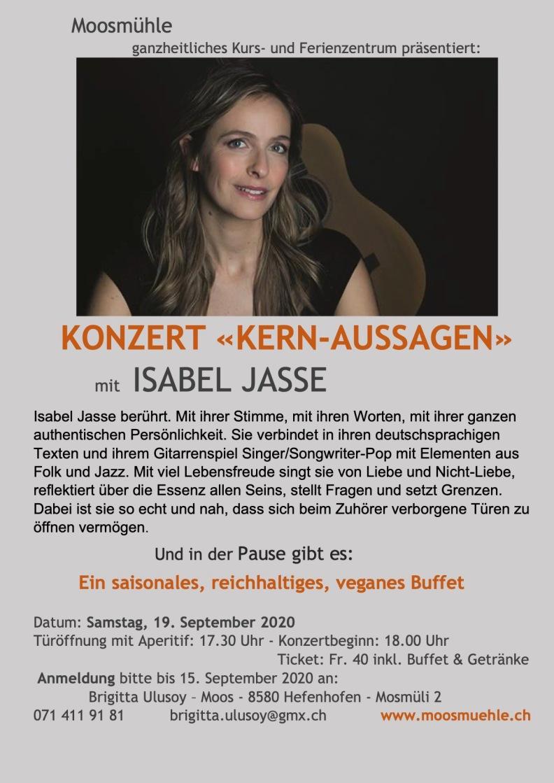 Konzert Kernaussagen_Isabel Jasse Hefenhofen_Schweiz