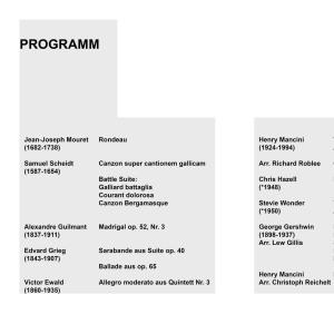 Konzertprogramm Livestream-Konzert