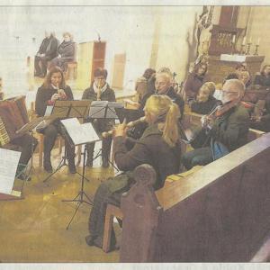 Fränkische Landeszeitung, 23.12.2019 - Weihnachtskonzert im Münster Wolframs-Eschenbach